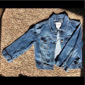 I Love H81 Cropped Denim Jacket